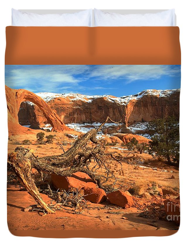 Coronoa Arch Duvet Cover featuring the photograph Corona Canyon by Adam Jewell