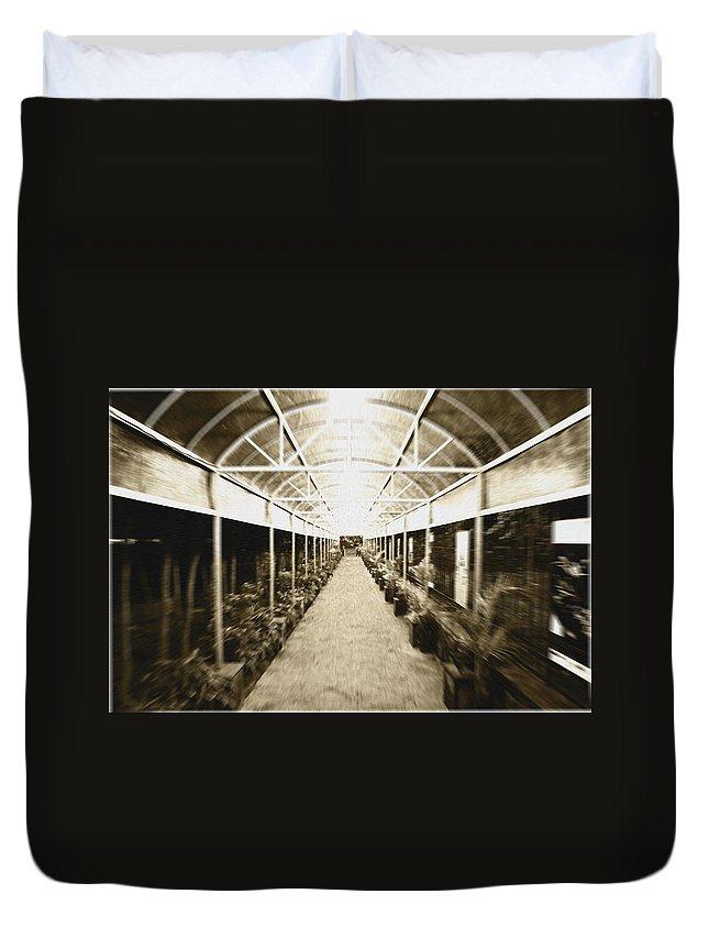 Corridor Duvet Cover featuring the photograph Corridor by Sumit Mehndiratta