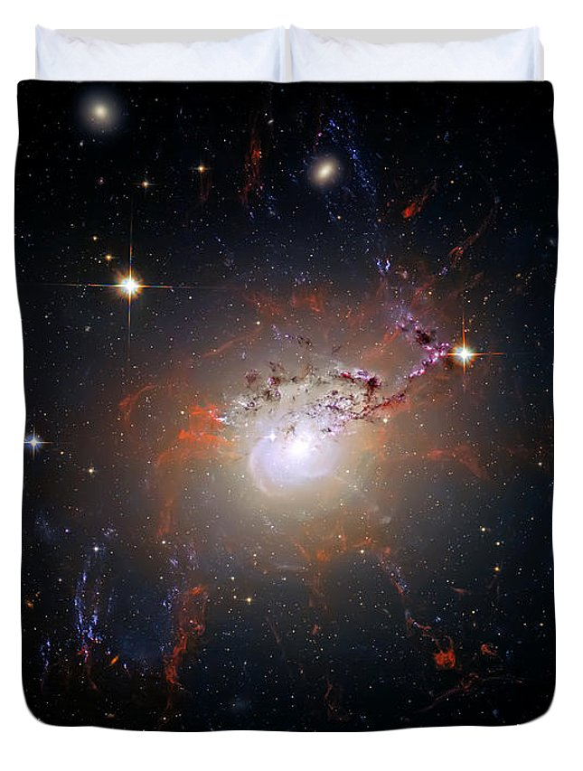 Universe Duvet Cover featuring the photograph Cosmic Fireworks by Jennifer Rondinelli Reilly - Fine Art Photography