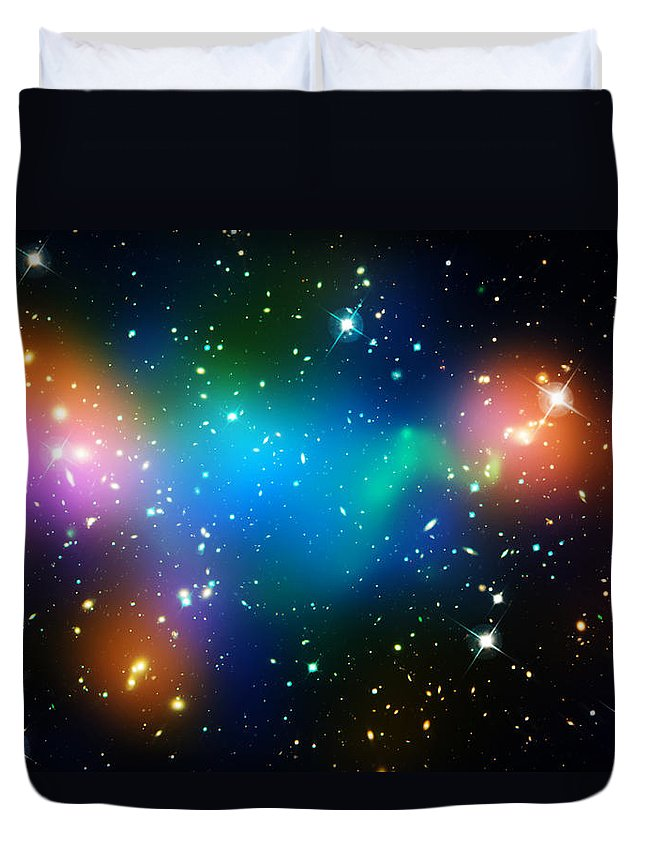 Universe Duvet Cover featuring the photograph Cosmic Glow by Jennifer Rondinelli Reilly - Fine Art Photography