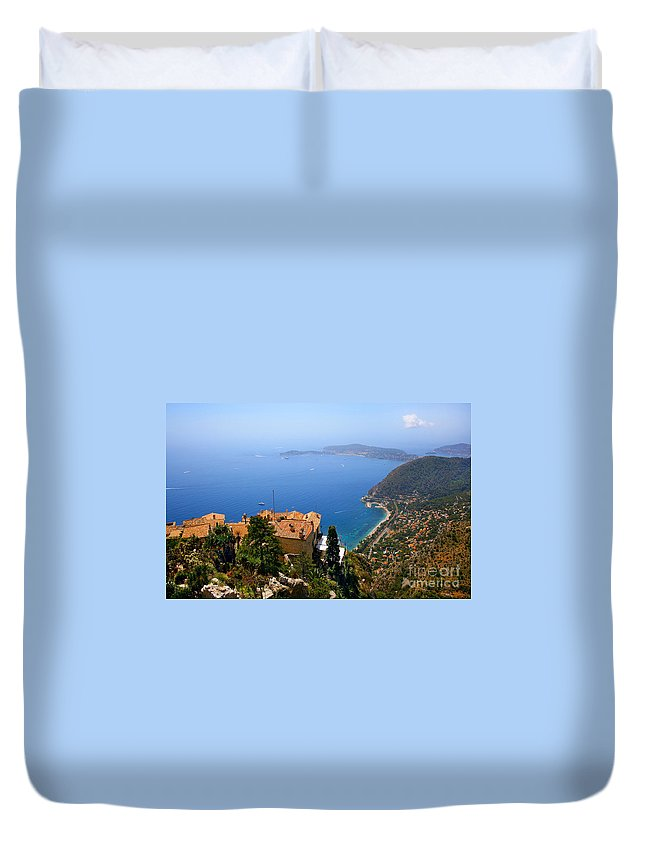 Cote Duvet Cover featuring the photograph Cote D'azur by JR Photography