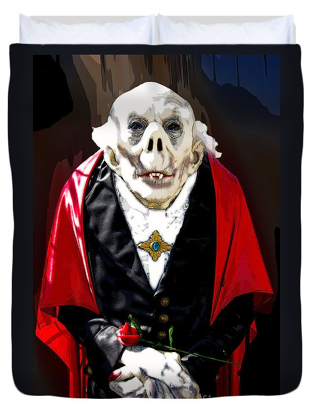 Count Dracula Duvet Cover featuring the photograph Count Dracula by Paul Mashburn