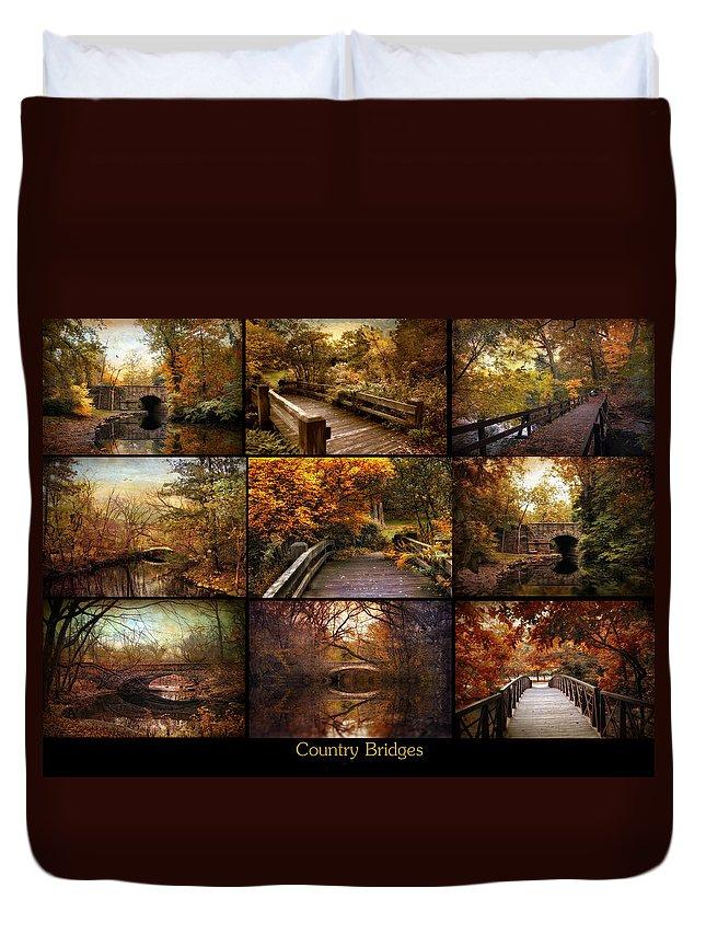 Bridges Duvet Cover featuring the photograph Country Bridges by Jessica Jenney