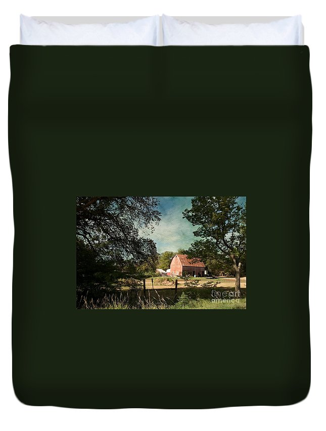 Country Charm Duvet Cover featuring the photograph Country Charm by Liane Wright
