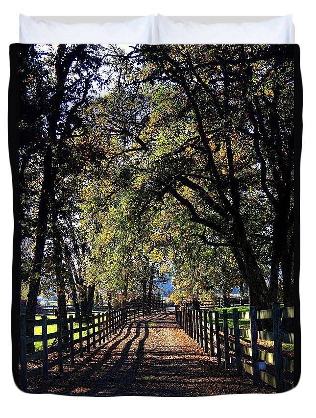 Country Duvet Cover featuring the photograph Country Drive by Aaron Berg
