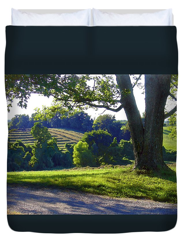Landscape Duvet Cover featuring the photograph Country Landscape by Steve Karol