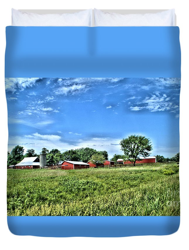 Farm Duvet Cover featuring the photograph Country Life by Joe Russell