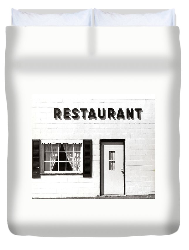 Restaurant Duvet Cover featuring the photograph Country Restaurant by Thomas Marchessault