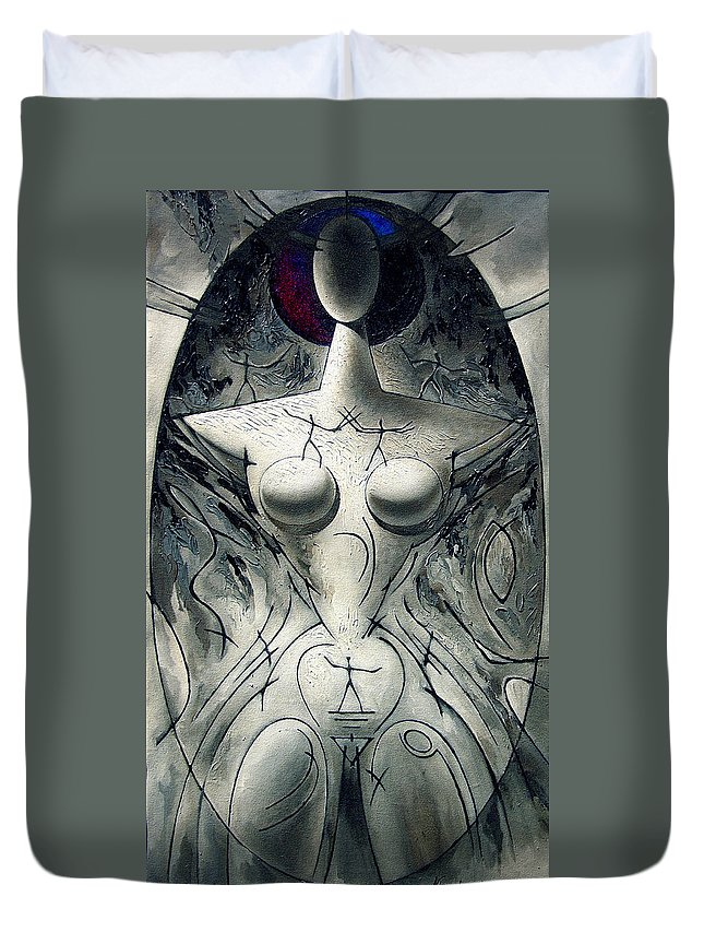 Courtship Duvet Cover featuring the painting Courtship by Nikolai Bartossik
