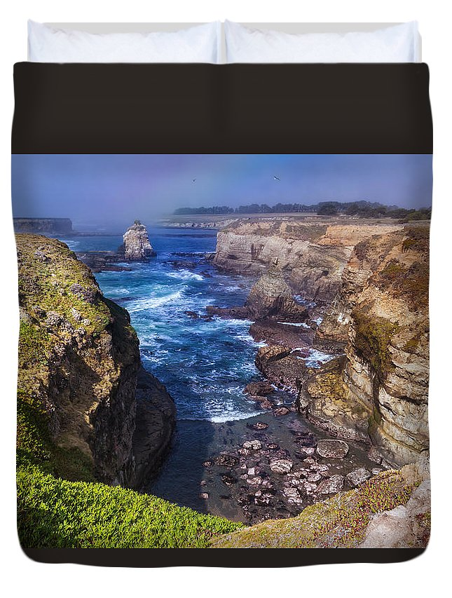 Cove Duvet Cover featuring the photograph Cove On The Mendocino Coast by Kathleen Bishop