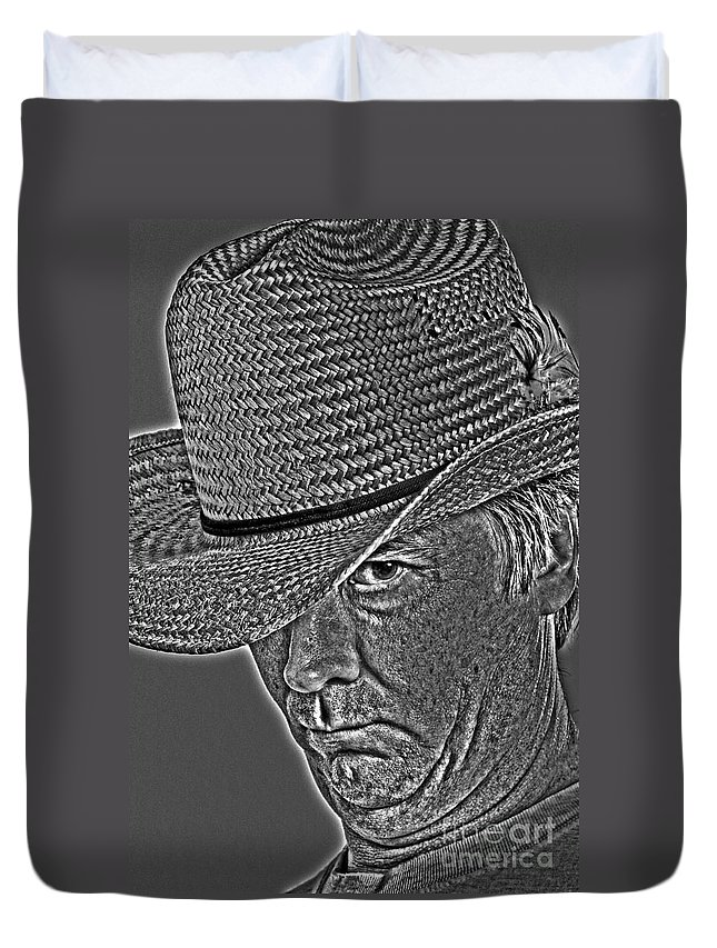 Adult Duvet Cover featuring the photograph Cowboy Al by Alan Look