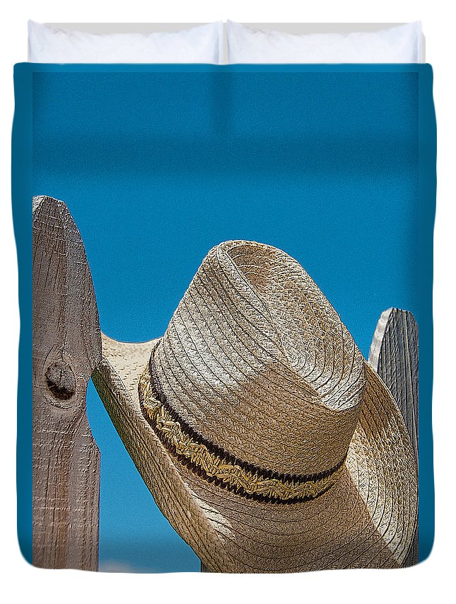 Hat Duvet Cover featuring the photograph Cowboy Days by Charles Beeler