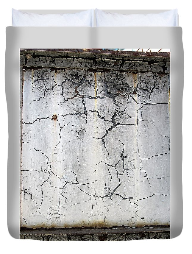 Crackle Duvet Cover featuring the photograph Crackle 1 by Anita Burgermeister