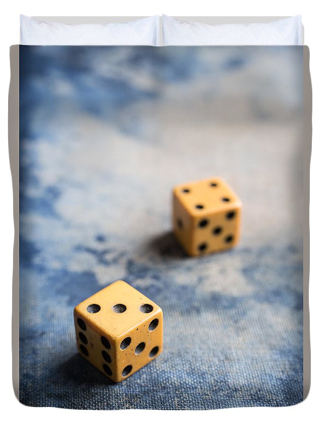 Items Duvet Cover featuring the photograph Craps by Edward Fielding