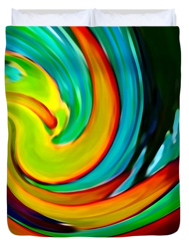 Waves Duvet Cover featuring the painting Crashing Wave by Amy Vangsgard