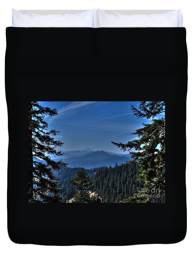 Crater Lake Oregon Duvet Cover featuring the photograph Crater Lake 3 by Jacklyn Duryea Fraizer
