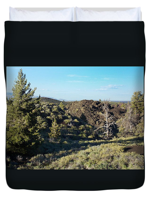Craters Duvet Cover featuring the photograph Craters Of The Moon2 by Susan Kinney