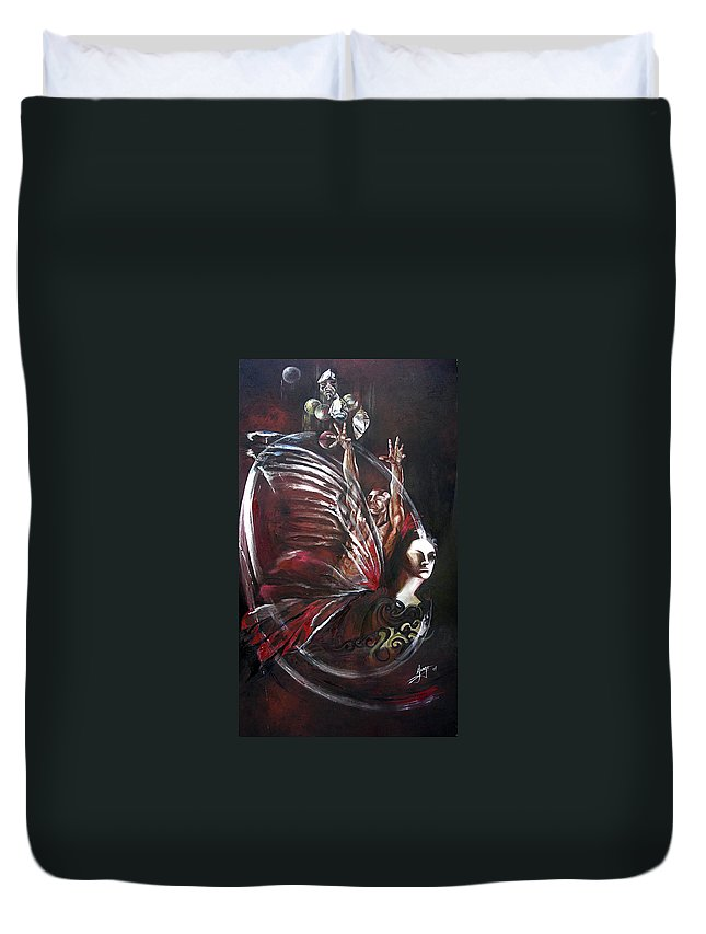 Butterflies Duvet Cover featuring the painting Creation Of Subspecies by Karina Llergo
