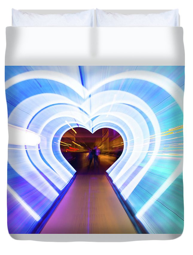 Cool Attitude Duvet Cover featuring the photograph Creative Picture With Zoom Technique Of by Artur Debat
