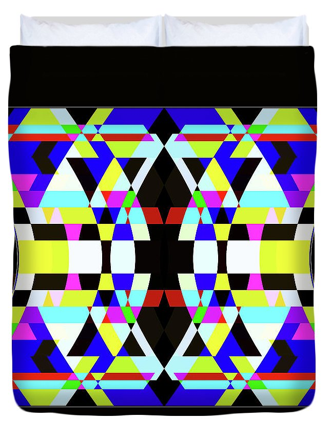 Rectangle Duvet Cover featuring the digital art Creative Shapes Abstract Design by Raj Kamal