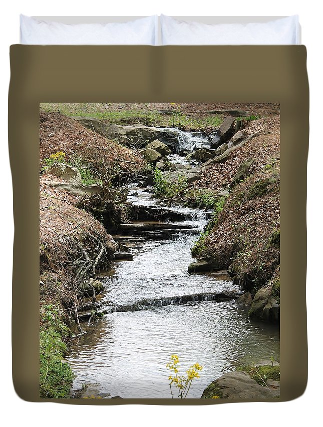 Creek Duvet Cover featuring the photograph Creek In Alabama by Mary Koval