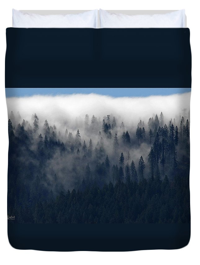 Clouds Duvet Cover featuring the photograph Creeping Clouds by Andy Crawford