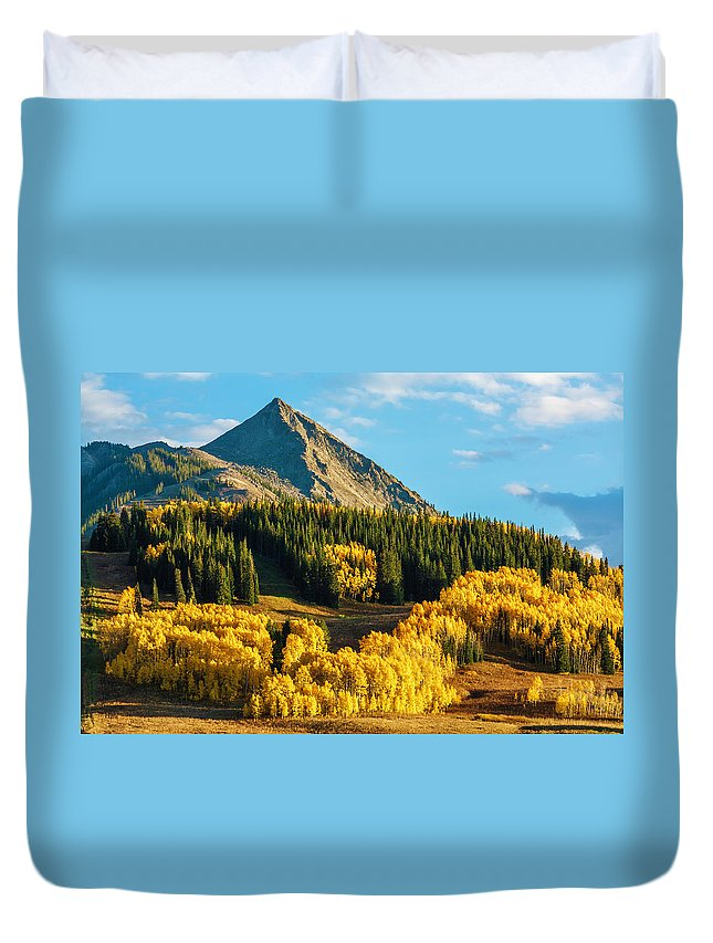 Scenics Duvet Cover featuring the photograph Crested Butte Autumn Colors At Sunset by Dszc