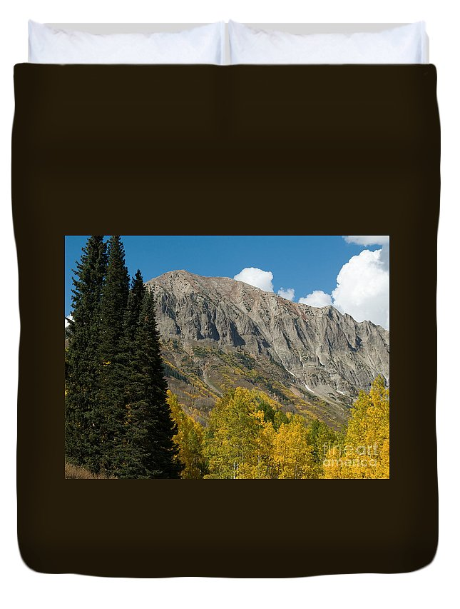 Fall Colors Duvet Cover featuring the photograph Crested Butte Colorado by Lee Roth