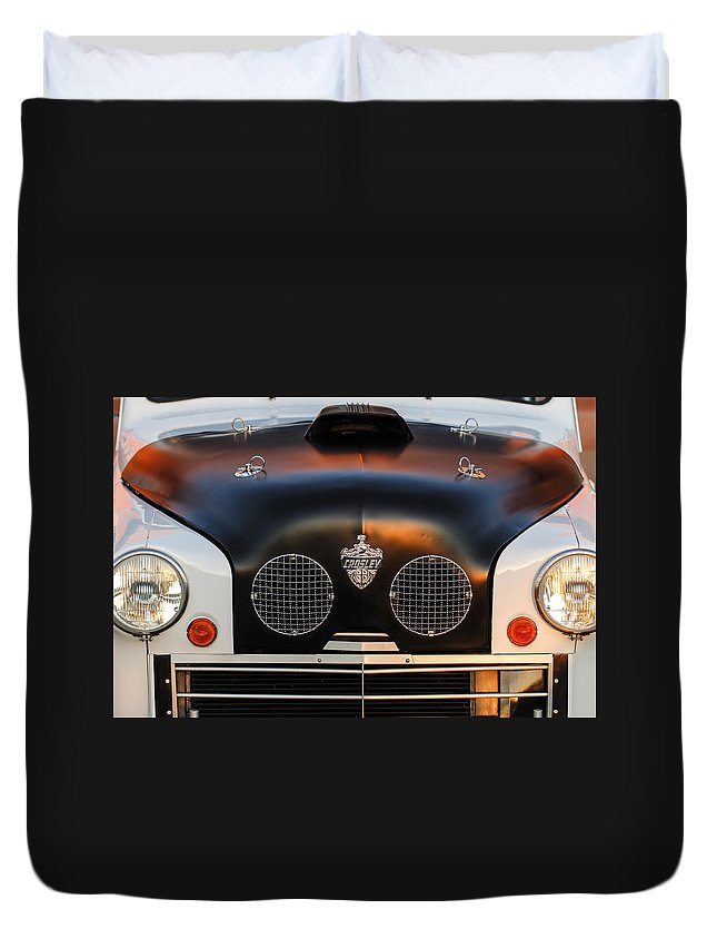 Crosley Grille Duvet Cover featuring the photograph Crosley Front End by Jill Reger