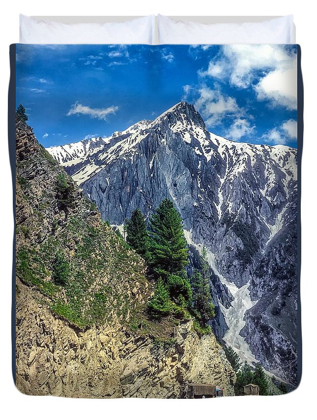 Ladakh Duvet Cover featuring the photograph Crossing The Himalayas by Steve Harrington