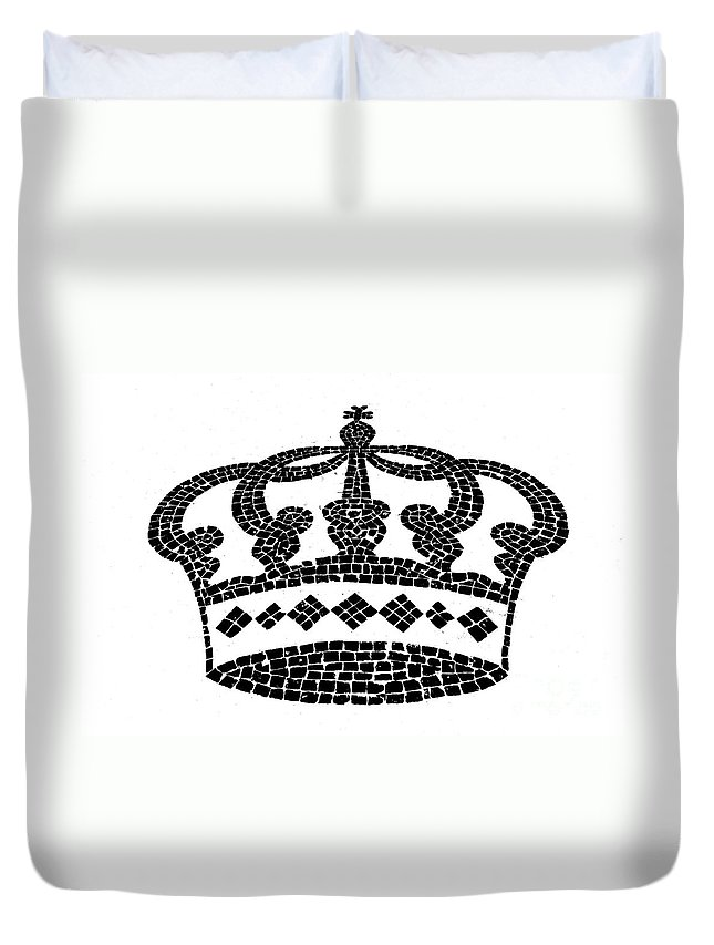 Crown Duvet Cover featuring the digital art Crown Graphic Design by Gaspar Avila
