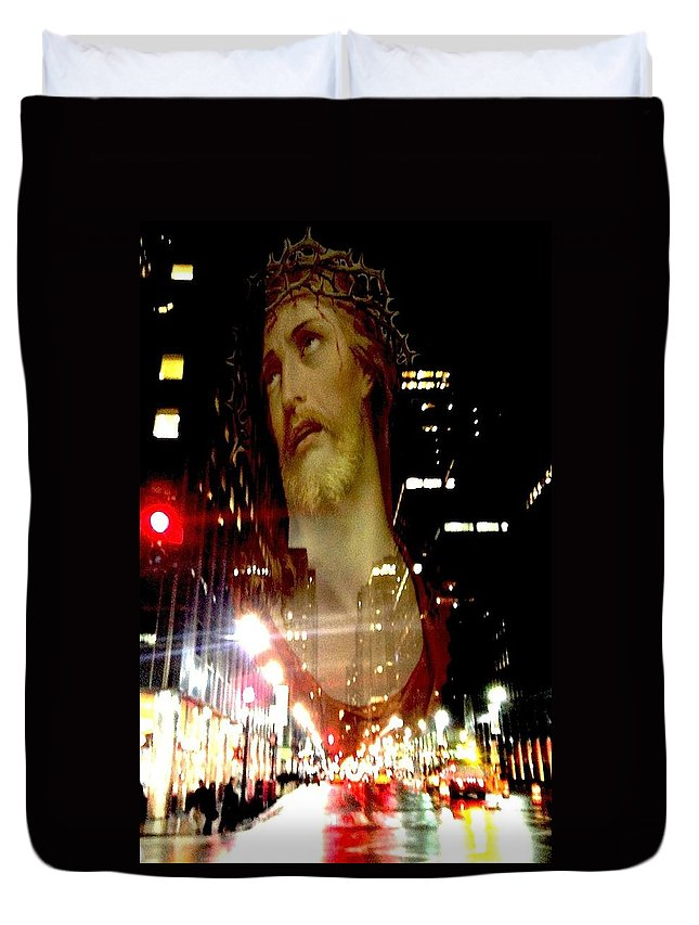 Spiritual Photography Duvet Cover featuring the photograph Crown Of Thorns by Tina Mancusi