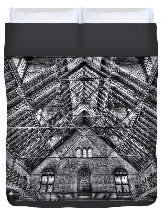 Clarence Holmes Duvet Cover featuring the photograph Crrnj Terminal Waiting Room II by Clarence Holmes