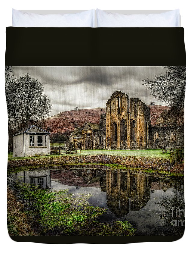 Valle Crucis Duvet Cover featuring the photograph Crucis Abbey by Adrian Evans