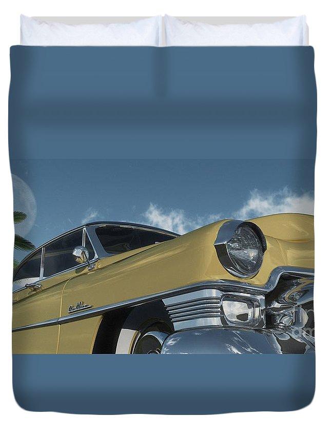 Cruisin Duvet Cover featuring the digital art Cruisin by Richard Rizzo