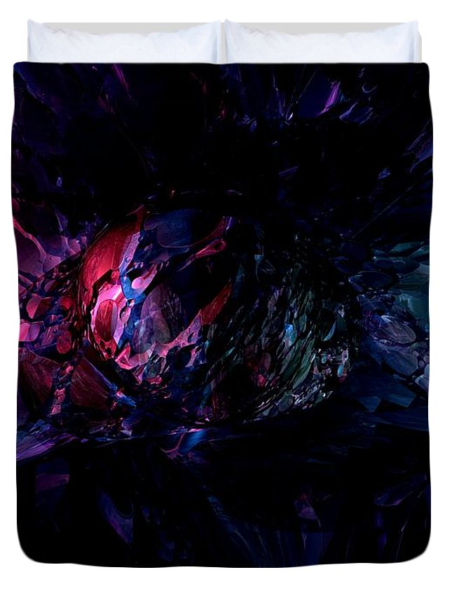 3d Duvet Cover featuring the digital art Crushed Abstract by Alexander Butler