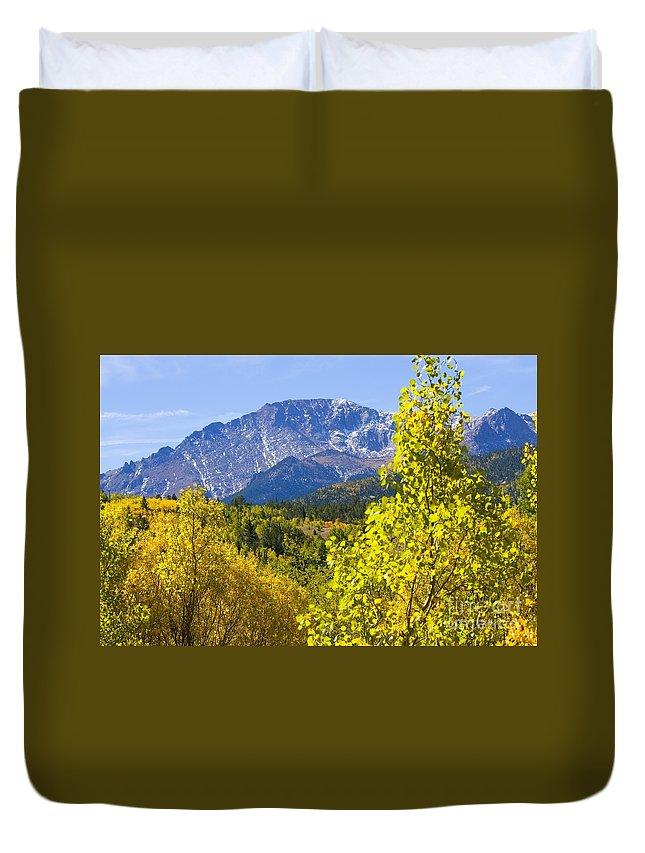 Autumn Duvet Cover featuring the photograph Crystal Creek Autumn by Steve Krull