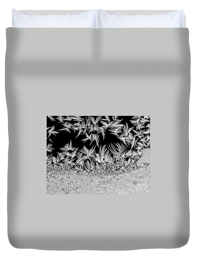Frost Duvet Cover featuring the photograph Crystal Feathers by Claudia Kuhn