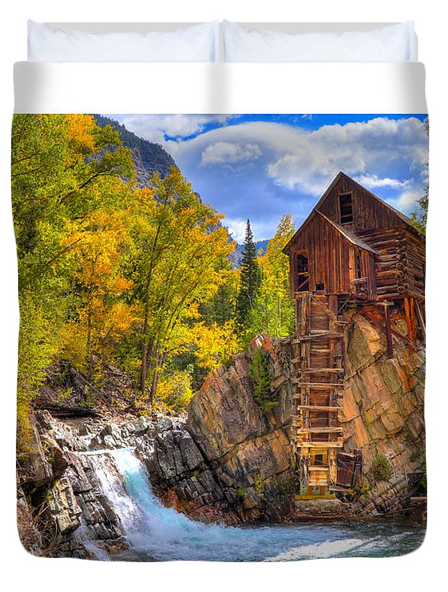 Crystal Mill Duvet Cover featuring the photograph Crystal Millin by David Ross
