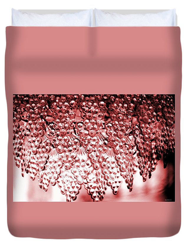 Crystal Red Duvet Cover featuring the photograph Crystal Red by Maria Urso