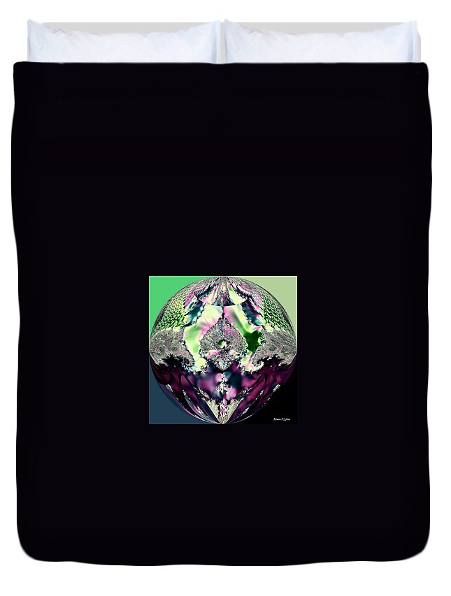 Crystal Royale Fractal Duvet Cover featuring the digital art Crystal Royale Fractal by Maria Urso