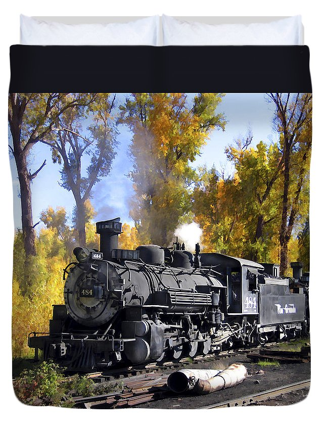 Train Duvet Cover featuring the photograph Cumbres And Toltec Railroad by Kurt Van Wagner