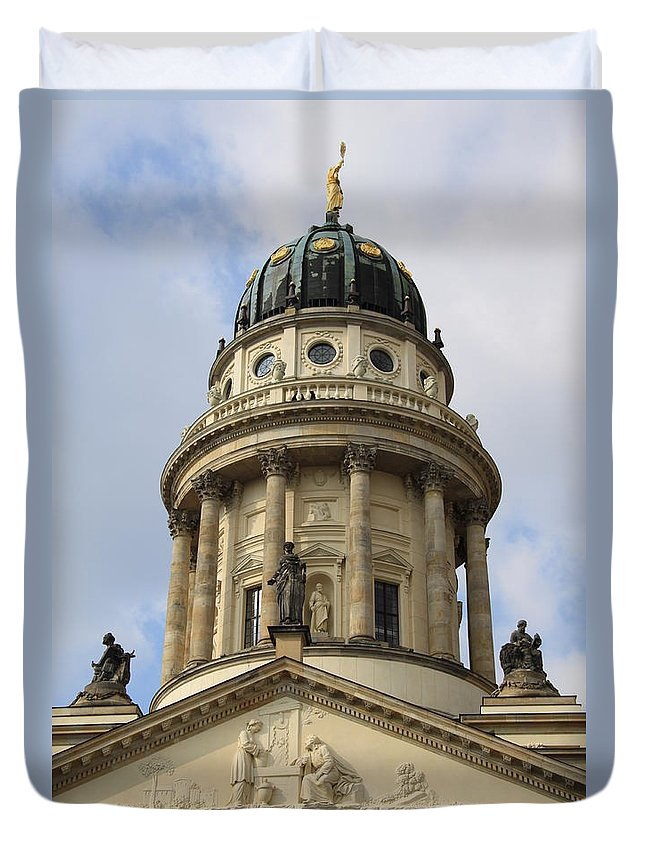 Cupola Duvet Cover featuring the photograph Cupola French Dome - Berlin by Christiane Schulze Art And Photography