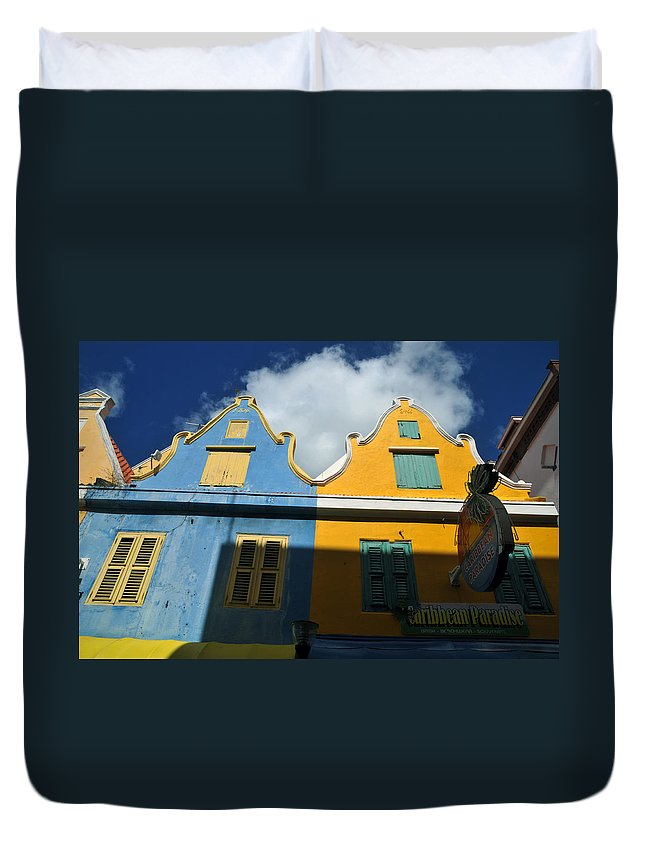 Old Building Duvet Cover featuring the photograph Curacao by Jorge Erick Ramos