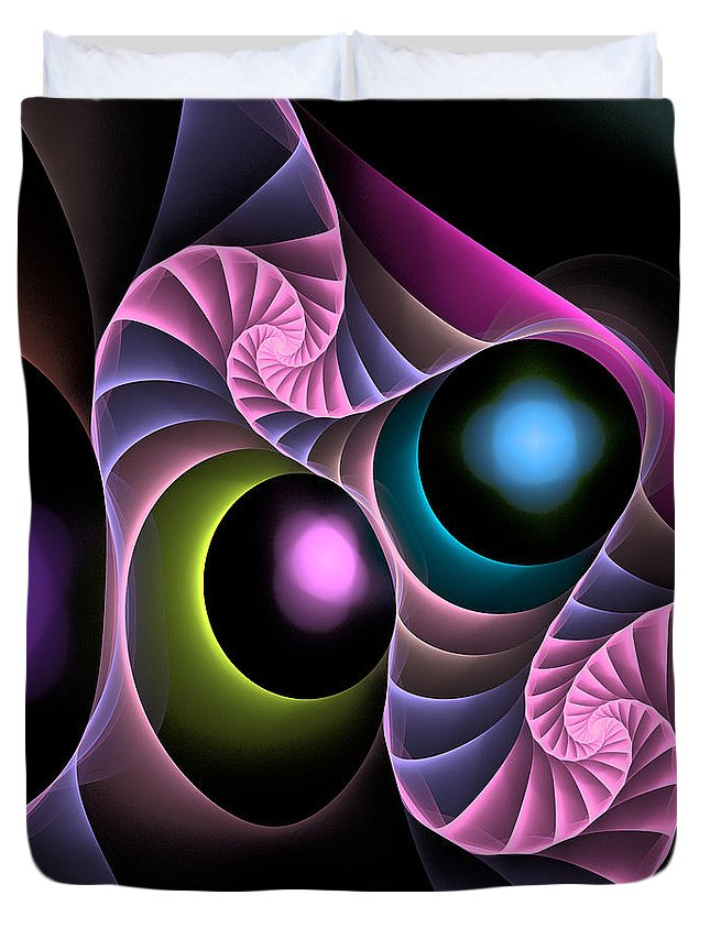 Curve Duvet Cover featuring the digital art Curbisme-101 by RochVanh