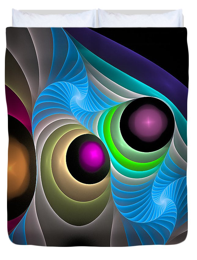 Curve Duvet Cover featuring the digital art Curbisme-102 by RochVanh