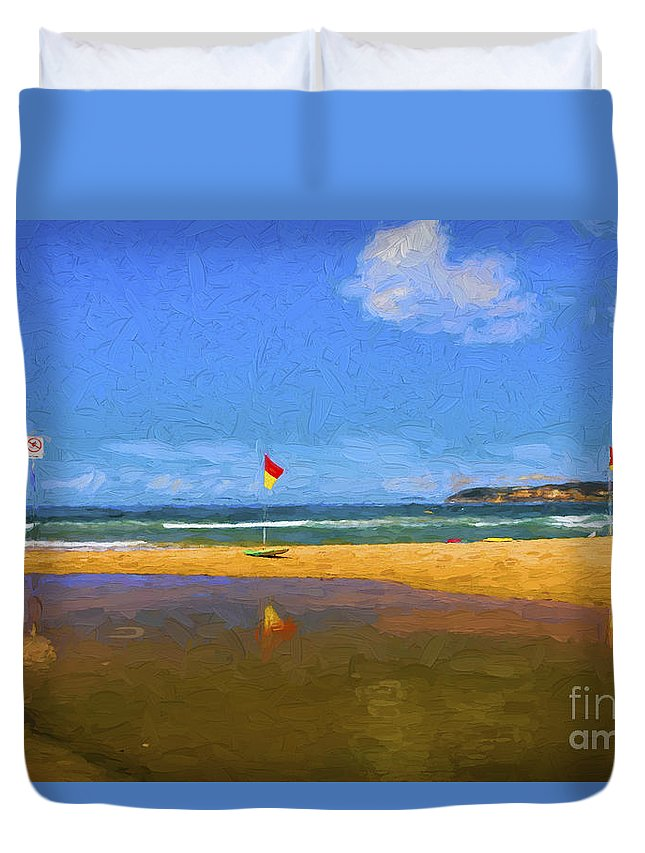 Curl Curl Duvet Cover featuring the photograph Curl Curl by Sheila Smart Fine Art Photography