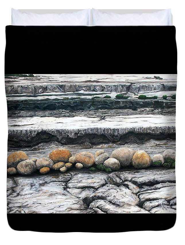 Australia Duvet Cover featuring the painting Cushion Bush Dam by Lyndsey Hatchwell