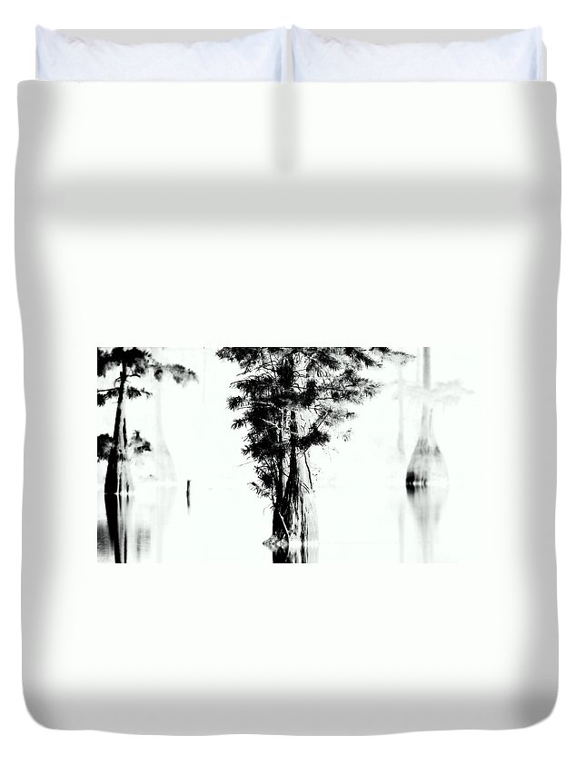 Cypress Duvet Cover featuring the photograph Cypress Lake by Travis Truelove