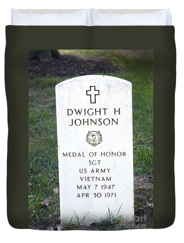 Medal Of Honor Duvet Cover featuring the photograph D. H. Johnson - Medal Of Honor by Paul W Faust - Impressions of Light